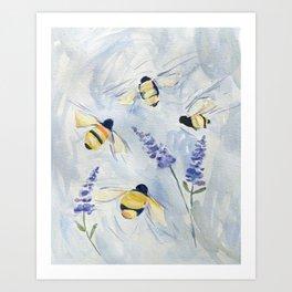 Summer Bees Art Print