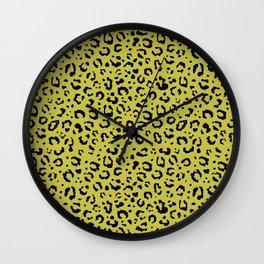 Leopard in gold Wall Clock