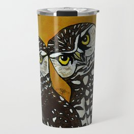 Burrowing Owls in love Travel Mug