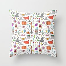 Harry Potter pattern Throw Pillow