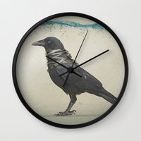 band Wall Clocks featuring Raven Band by Vin Zzep