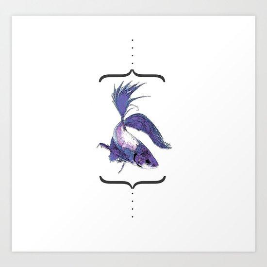 """betto"" to fish Art Print"