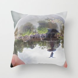 Bethesda Fountain Throw Pillow