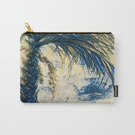 Tropical Palm Tree Blue by CheyAnne Sexton Carry-All Pouch