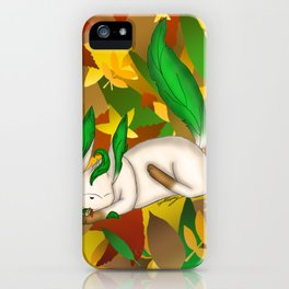 Playing with Leaves iPhone Case