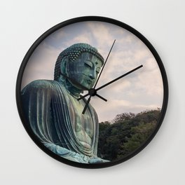 Meditating Buddha in Kamakura Japan Wall Clock