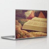 bible verse Laptop & iPad Skins featuring Bible by KimberosePhotography