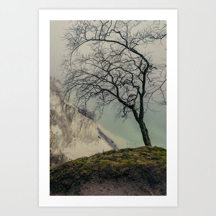ON THE BRINK / Møns Klint, Denmark Art Print