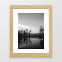 Winter Ripple Black & White Framed Art Print