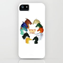Wings of Fire Dragon - All Together Painting iPhone Case