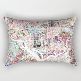 Washington map flowers Rectangular Pillow