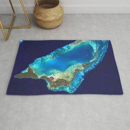 Bahamas, Abaco Islands Satellite Image Rug