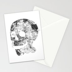 Skull Wanderlust Black and White Stationery Cards