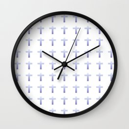 Christian Cross 50 Wall Clock