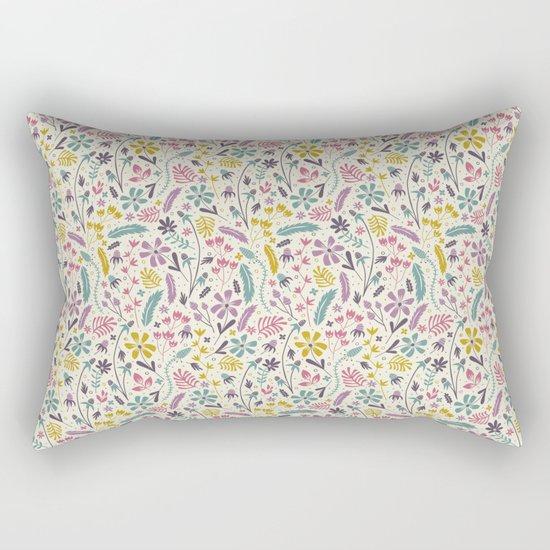 Retro Blooms (Candy) Rectangular Pillow