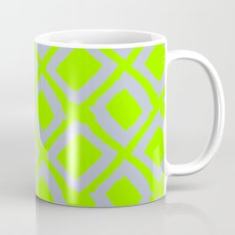 Slate Diamonds on Neon Lime Coffee Mug