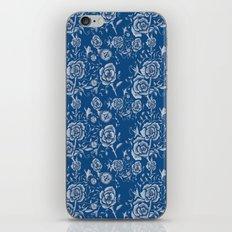 Denim and Roses iPhone Skin
