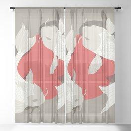 Koi fish 001 Sheer Curtain