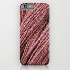 Pink Mauve Handspun Yarn iPhone 6s Slim Case