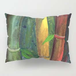 Colorful bamboo painting with gouache Pillow Sham