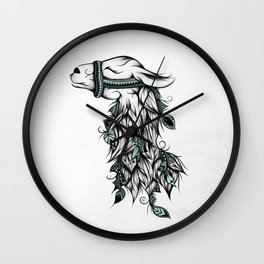 Poetic Llama Wall Clock