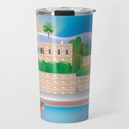 Beirut, Lebanon - Skyline Illustration by Loose Petals Travel Mug