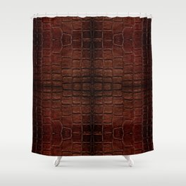 Dark brown snake leather cloth imitation Shower Curtain