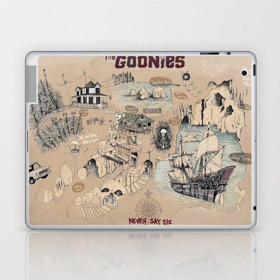 Goonies Map  Laptop & iPad Skin