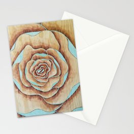 Teal bloom Stationery Cards