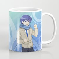 vocaloid Mugs featuring Kaito - VOCALOID Gakuen by Tenki Incorporated