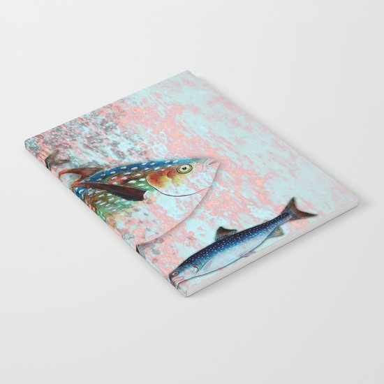 Into the Deep, Ocean Swimming Fish Notebook