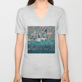 washington dc city skyline Unisex V-Neck