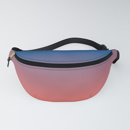 Living Coral Princess Blue Ombre Pattern Trendy Colors of Year 2019 Fanny Pack