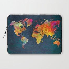 World Map blue #world #map Laptop Sleeve