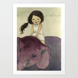 Elephant Girl Art Print
