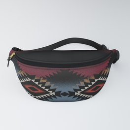 aztec in black number 5 Fanny Pack