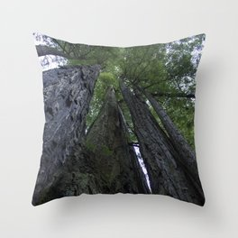 Wooden Giants Throw Pillow