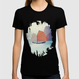 Chinese Boat on the water T-shirt