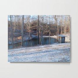 Pond and Snow Metal Print