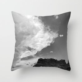 Incoming Storm Black and White Throw Pillow