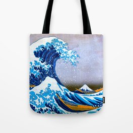 The Great Wave off Kanagawa (Bright & Colorful) Tote Bag