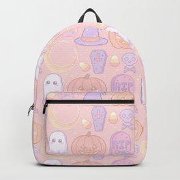 Halloween Pixel Pattern Backpack