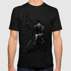 Ronin LARGE Mens Fitted Tee Tri-Black