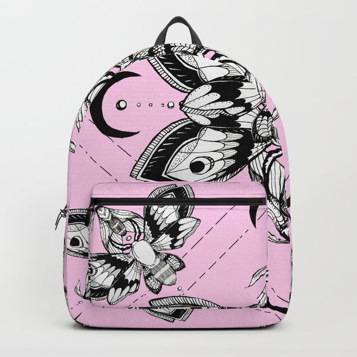 Skull Book Bag Pastel Goth Backpack