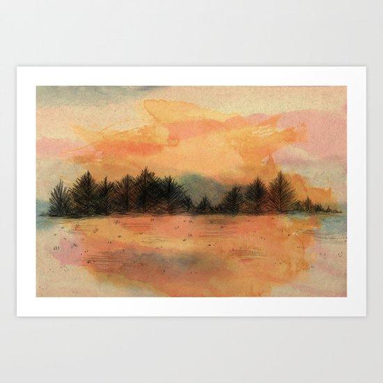 Horizonte distante Art Print