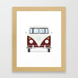 Hippie bus Framed Art Print