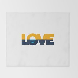 LOVE - People's Flag of Milwaukee Throw Blanket