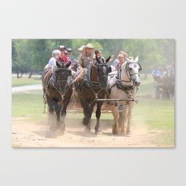 Wagons Roll Canvas Print