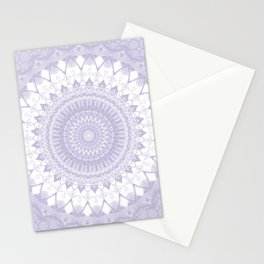 Boho Pastel Purple Mandala Stationery Cards