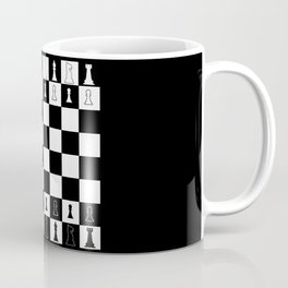 Chess Board Layout Coffee Mug